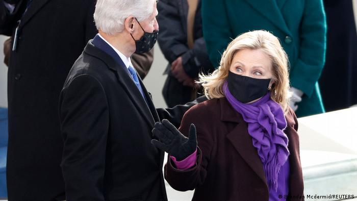 USA Biden Inauguration Bill und Hillary Clinton