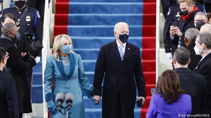 Joe Biden, noul președinte al SUA, alături de Prima Doamnă Jill Biden
