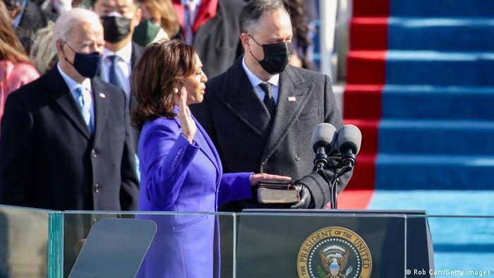 USA Washington | Amtseinführung: Joe Biden - Amtseid: Kamala Harris