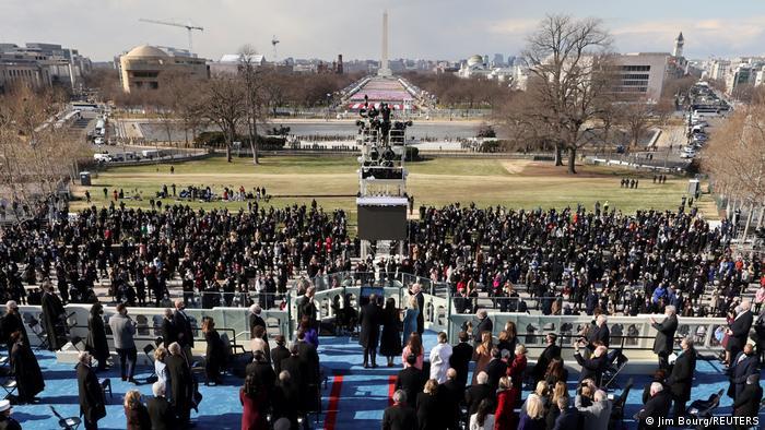 Suasana pengambilan sumpah jabatan Joe Biden