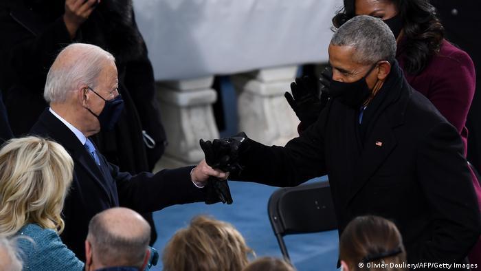 USA Washington | Amtseinführung: Joe Biden und Barack Obama