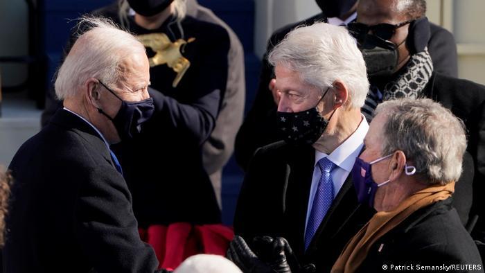 USA Washington | Amtseinführung: Joe Biden | George W. Bush und Bill Clinton