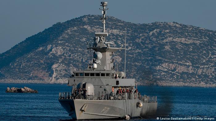 Fast Missile Patrol Boat P 71 HS Ritsos patrols off the tiny Greek island of Kastellorizo