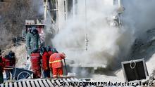 China Explosion in einer Goldmine - Rettungsaktion