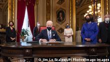 USA Washington | Joe Biden unterschreibt Kabinettsnominierungen im Kapitol