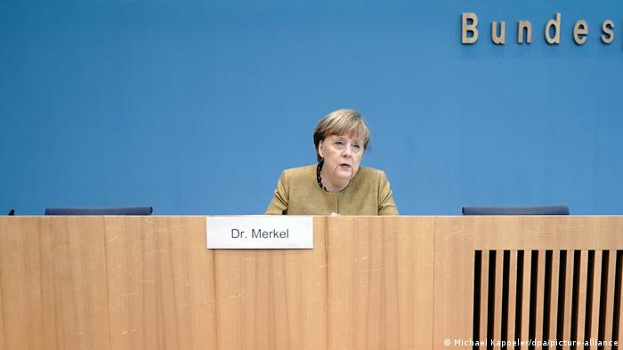 Deutschland Coronapandemie Pressekonferenz Bundeskanzlerin Angela Merkel