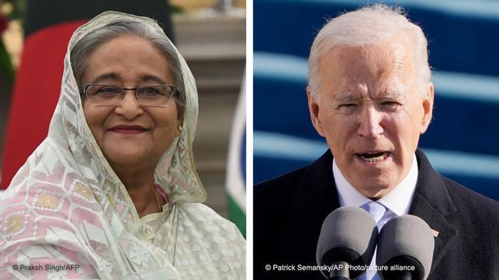Kombibild Sheikh Hasina und Joe Biden