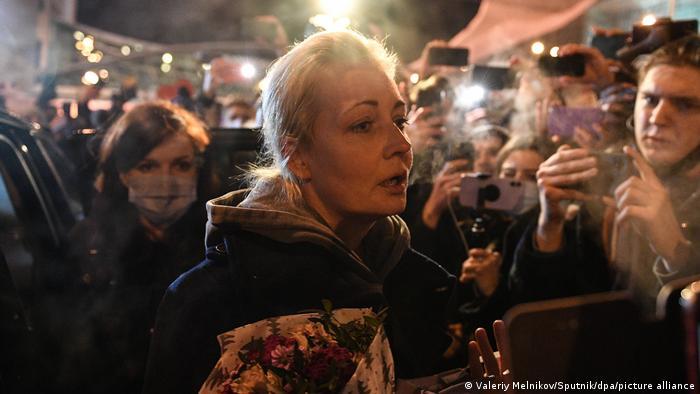 Юлия Навальная по прибытии в Москву из Германии 17 января