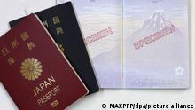 Japan Neuer Pass mit ukiyo-e