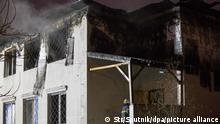 Ukraine Feuer in Schwesternwohnheim Kharkov