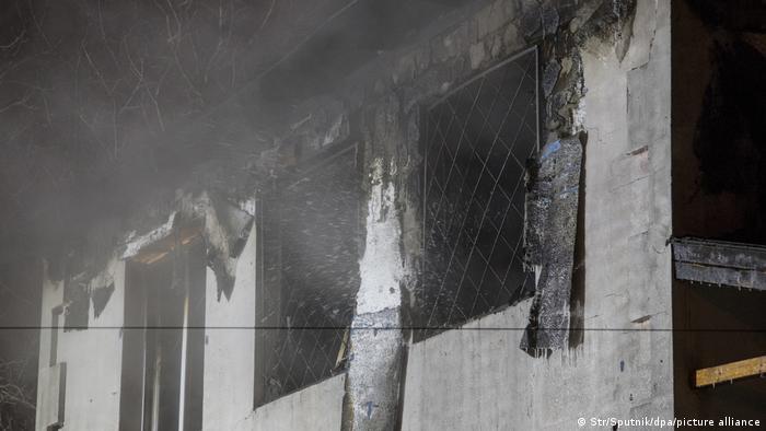 Згорілий будинок для літніх людей у Харкові