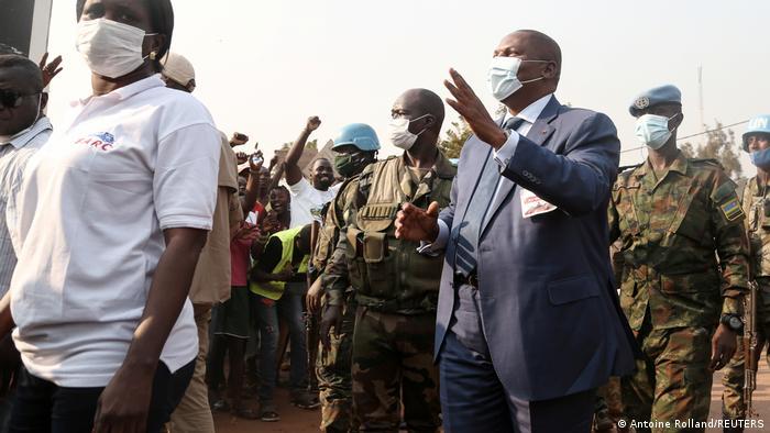 Zentralafrikanische Republik Präsident austin-Archange Touadera