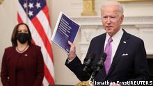 الرئيس الأمريكي جو بايدن ونائبته كمالا هاريس