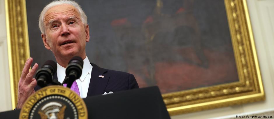 USA Washington   Pressekonferenz Joe Biden zum Coronavirus
