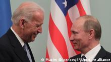 Russland Moskau | US Vizepräsident Joe Biden und Wladimir Putin