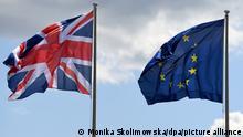 Symbolbild | Flaggen von Großbritannien und EU | EU-Bürger wollen in Großbritannien