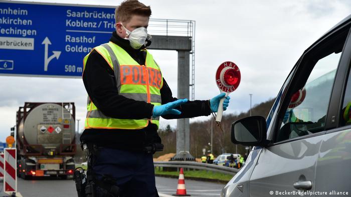 Grenzkontrolle zwischen Frankreich und Deutschland