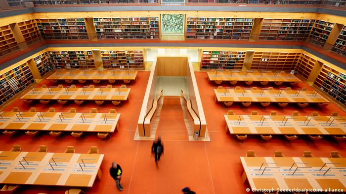 The reading room at the Berlin State Library at Unter den Linden