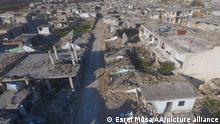 Syrien Hama Ruinen nachdem Angriff