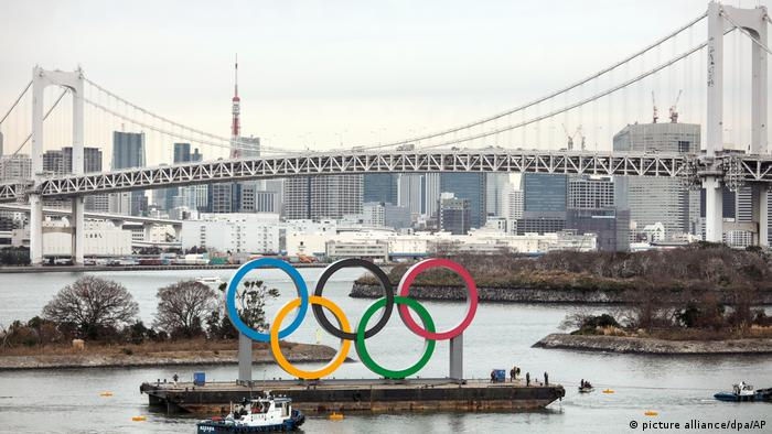 Japan Tokio 2020 Olympische Ringe