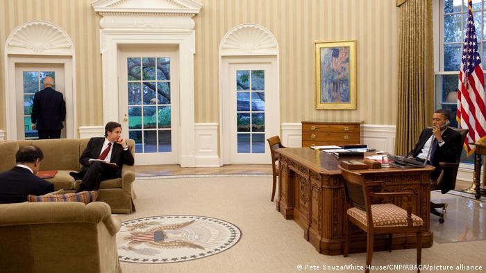 معماران توافق هستهای در آمریکا، نوامبر ۲۰۱۰: باراک اوباما، جو بایدن، آنتونی بلینکن، مشاور امنیت ملی اوباما و پونت تلوار، نماینده ارشد آمریکا در امور ایران و عراق