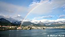 Argentinien Regenbogen über Ushuaia