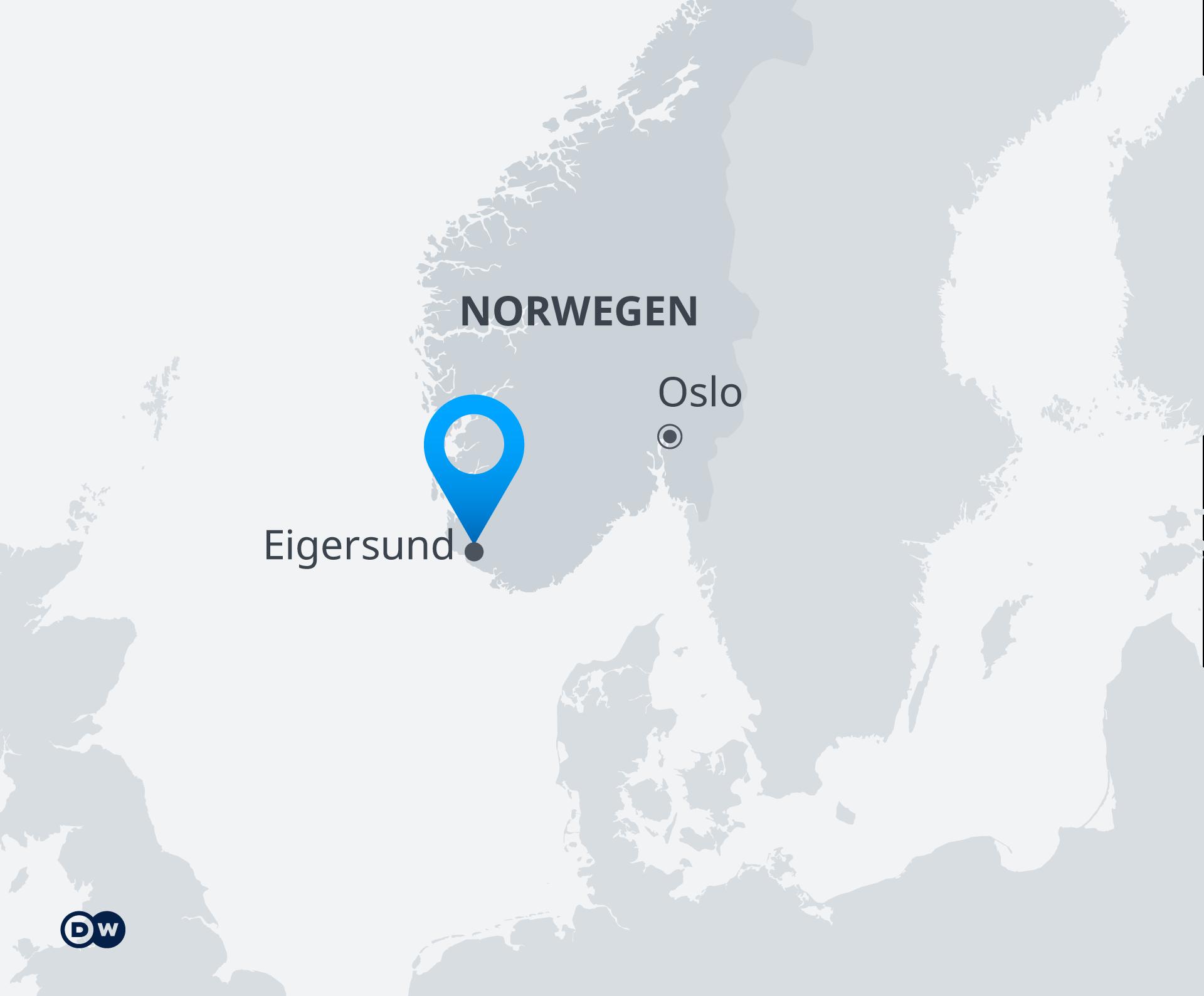 Infografik Karte Norwegen Eigersund