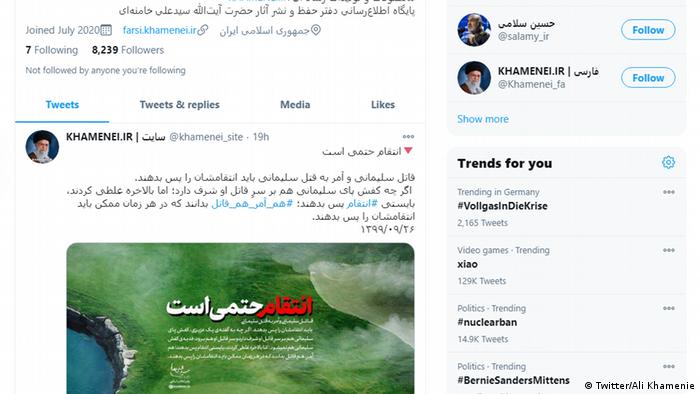 Screenshot Twitter | Ali Khamenie