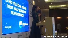 Ms Firehiwot Tamiru, CEO Ethio Telecom, Addis Ababa, Ethiopia 22.01.2021 Copyright: Solomon Muche / DW