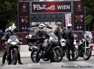 پلیس اتریش در مرکز شهر وین