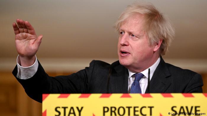 Boris Johnson, durante una comparecencia sobre el coronavirus el 22 de enero.