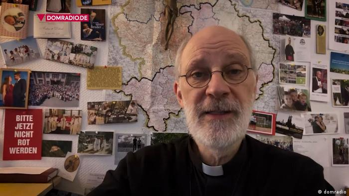 Cologne auxiliary Bishop Ansgar Puff in a video address on local Catholic radio
