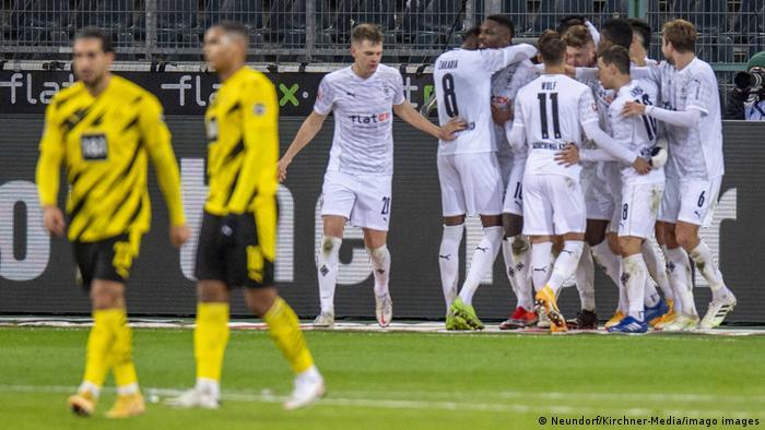 Gladbach celebrate a goal