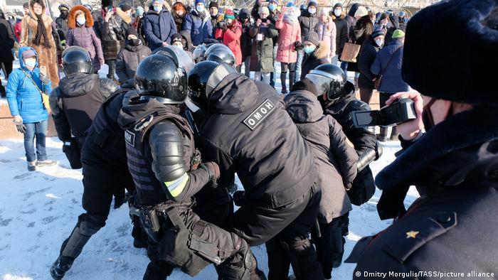 Russland Chabarowsk | Protestaktion für Alexej Nawalny