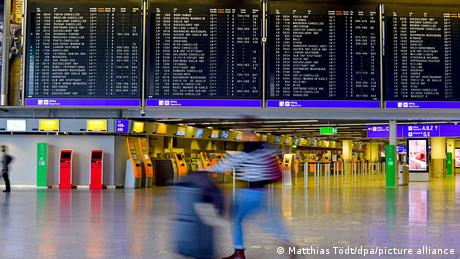 Germany, a nearly deserted Frankfurt airport during the Covid lockdown