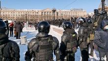 Russland Chabarowsk Protestaktion Freilassung Alexey Nawalny