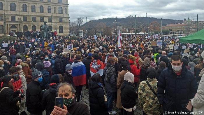Tschechien Prag | Proteste gegen Verhaftung Nawalnys