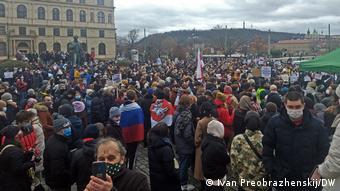 Митинг в поддержку Навального в Праге