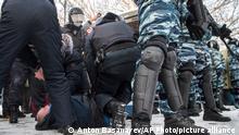 Russland Jekaterinburg | Proteste gegen Regierung | wegen Verhaftung von Nawalny