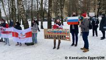 Litauen Protestaktion für die Freilassung Nawalnys in Vilnius