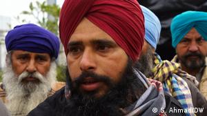 Indien Bauer Satnam Singh bei Farmer-Protesten