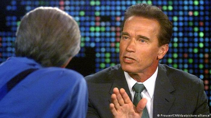 Arnold Schwarzenegger and Larry King
