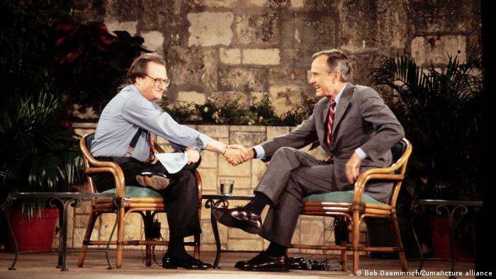 Larry King Show and George H.W. Bush
