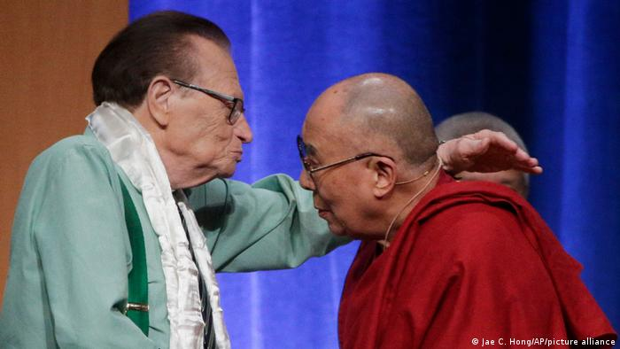 Larry King and the Dalai Lama