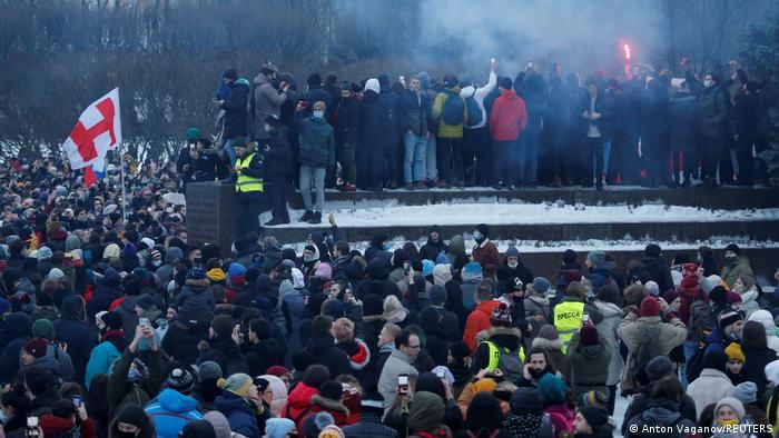 Russland Sankt Petersburg | Proteste wegen Nawalny-Verhaftung