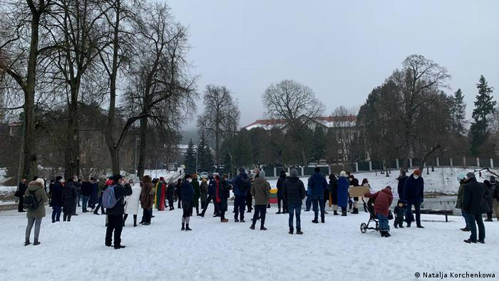 Litauen Vilnus | Demo für Alexej Nawalny