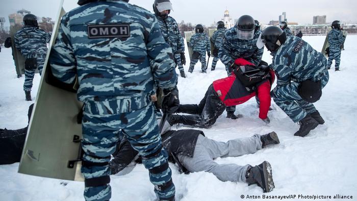 Russland Jekaterinburg | Proteste wegen Nawalny-Verhaftung