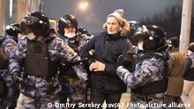 Russland Moskau | Proteste wegen Nawalny-Verhaftung