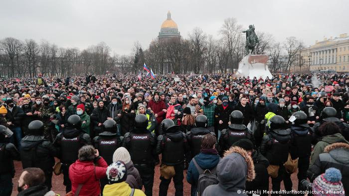 Russland Demonstration Nawalny Sankt Petersburg