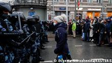 Russland Moskau | Landesweite Protestaktion Nawalny Verhaftung